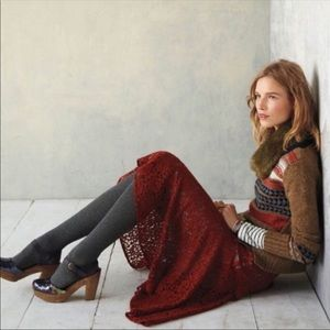 Anthropologie Sparrow Nordic Brown Sweater Sz M